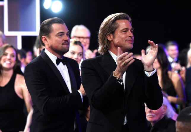 LOS ANGELES, CALIFORNIA - JANUARY 19: (L-R) Leonardo DiCaprio and Brad Pitt attend the 26th Annual Screen Actors??Guild Awards at The Shrine Auditorium on January 19, 2020 in Los Angeles, California. 721336 (Photo by Kevin Mazur/Getty Images for Turner)