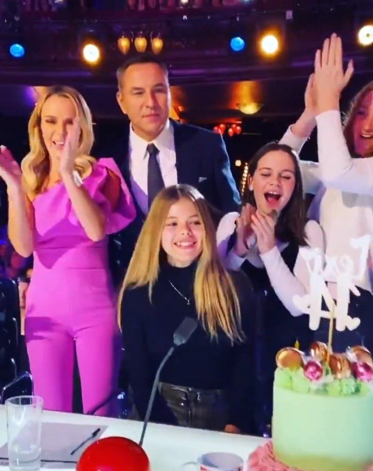 Amanda Holden marks daughter Lexis 14th birthday with Britain's Got Talent team.