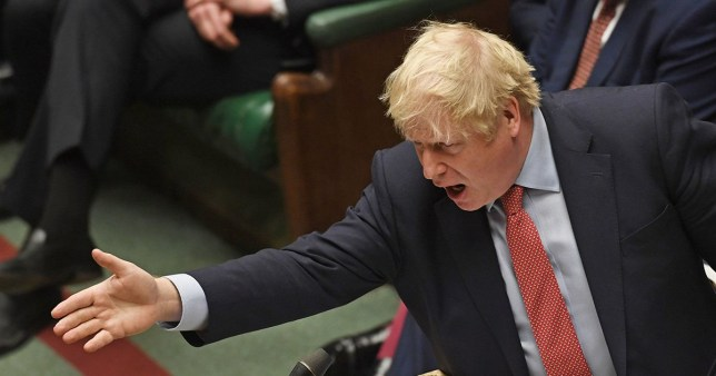 Boris Johnson speaking during Prime Minister's Questions in the House of Commons