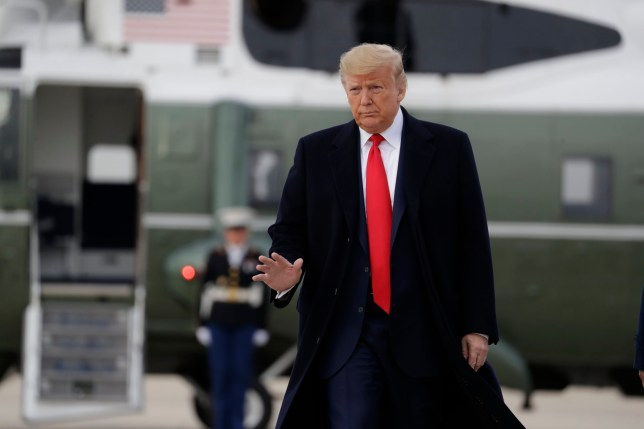 Photo of Donald Trump at Andrews Air Force Base on Thursday