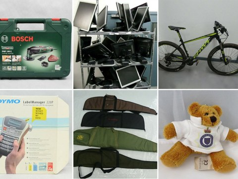 Police force has made £850,000 auctioning bizarre items seized from criminals