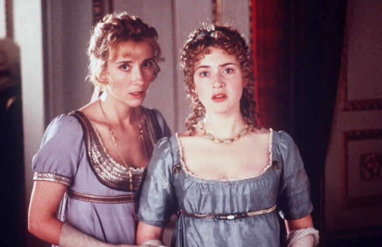 Editorial use only. No book cover usage. Mandatory Credit: Photo by Columbia/Kobal/REX/Shutterstock (5884422b) Emma Thompson, Kate Winslet Sense and Sensibility - 1995 Director: Ang Lee Columbia UK Scene Still Jane Austen Drama Raison et Sentiments