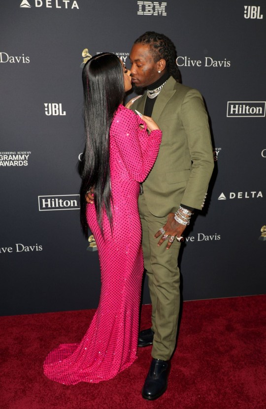 Mandatory Credit: Photo by Chelsea Lauren/REX (10538604eo) Cardi B and Offset Clive Davis' 2020 Pre-Grammy Gala, Arrivals, The Beverly Hilton, Los Angeles, USA - 25 Jan 2020