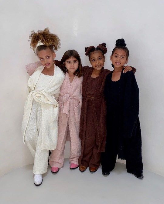 Kim Kardashian kids in the Cardi crew