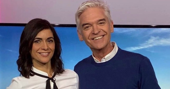 Schofield poses with brand new co-host without Holly Willoughby