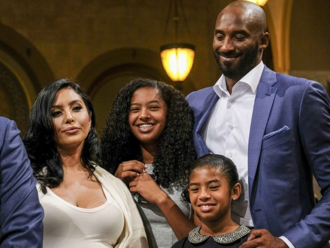 Mandatory Credit: Photo by Ringo Chiu/Zuma Wire/REX (5842007n) Kobe Bryant and his family L.A. City Council declares 'Kobe Bryant Day', Los Angeles, USA - 24 Aug 2016 Former Los Angeles Lakers star Kobe Bryant and his family attend the Los Angeles City Council meeting at Council chamber in Los Angeles City Hall, where Councilman Jose Huizar makes a presentation declaring Kobe Bryant Day. The Los Angeles City Council declared today Kobe Bryant Day, honoring the recently retired Los Angeles Laker on the date of the jersey numbers he wore with the team.