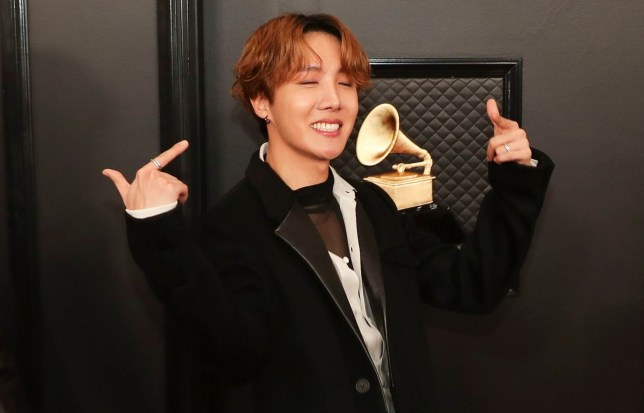 Mandatory Credit: Photo by Christopher Polk/Rolling Stone/REX (10532338id) J-Hope of BTS 62nd Annual Grammy Awards, Arrivals, Los Angeles, USA - 26 Jan 2020