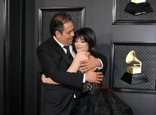 LOS ANGELES, CALIFORNIA - JANUARY 26: Alejandro Cabello (L) and Camila Cabello attend the 62nd Annual GRAMMY Awards at Staples Center on January 26, 2020 in Los Angeles, California. (Photo by Amy Sussman/Getty Images)