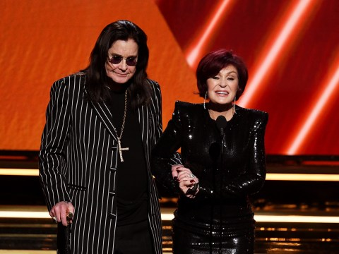 Ozzy Osbourne admits he's had 'year from hell' as he walks Grammys red carpet with cane