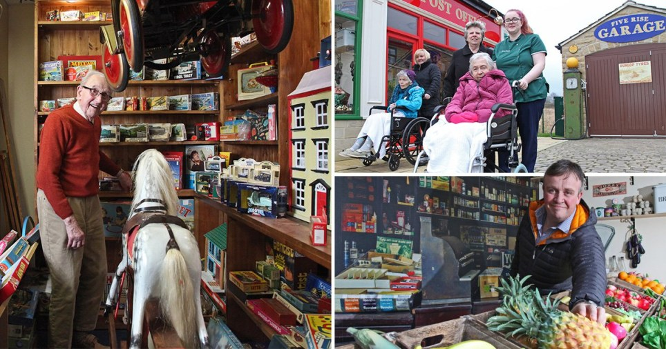 Care home builds entire 1950s style high street to take people with dementia back in time