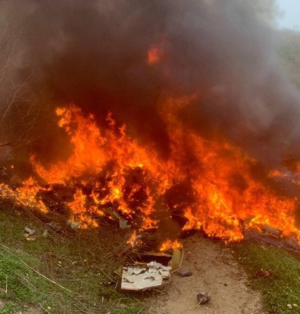 fireball engulfed Kobe Bryant's helicopter