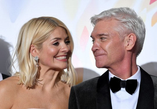Mandatory Credit: Photo by Anthony Harvey/REX (10537889av) Holly Willoughby and Phillip Schofield - Live Magazine - 'This Morning' 25th National Television Awards, Press Room, O2, London, UK - 28 Jan 2020