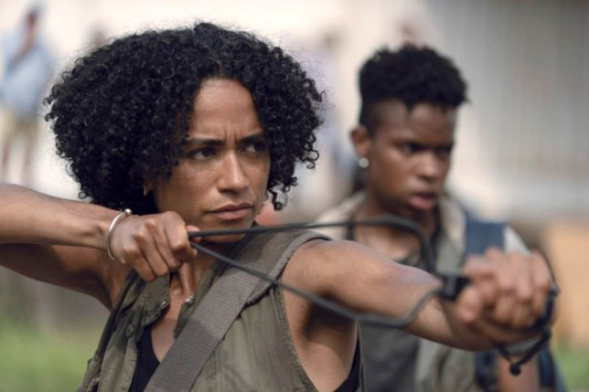 Lauren Ridloff as Connie, Angel Theory as Kelly??- The Walking Dead _ Season 9, Episode 7 - Photo Credit: Gene Page/AMC