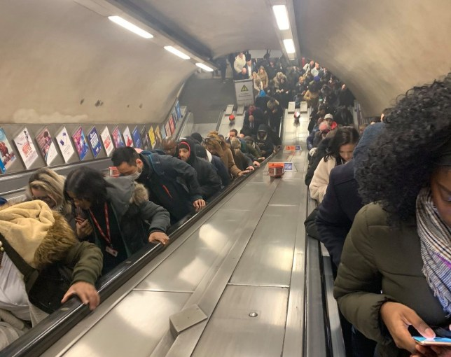 Manor House station tube this morning after reported fire