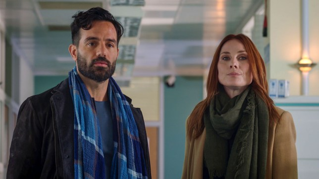 Jac Naylor and Kian in Holby City