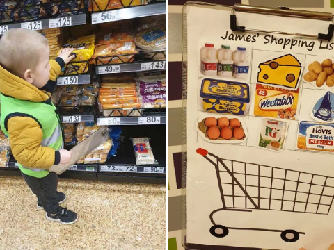 Mum makes son 'shopping officer' to help keep him entertained on supermarket trips