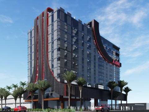 Atari are opening eight 'gaming hotels' and they look like giant Atari logos