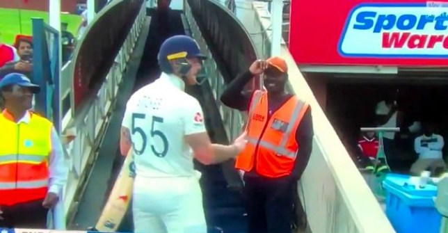 England all-rounder Ben Stokes clashed with a South Africa fan