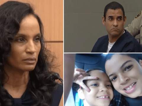 Grieving mom screams and swears at husband who abandoned their kids to die in house fire