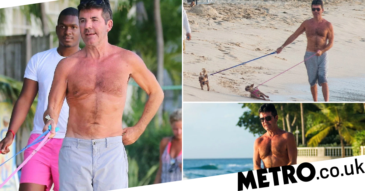 Simon Cowell treats beloved dogs to Barbados beach day and we're totally jealous