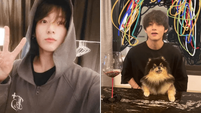 Jungkook and V on Weverse