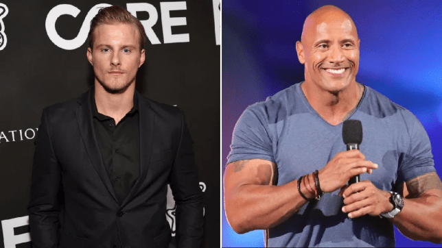 alexander Ludwig and Dwayne Johnson