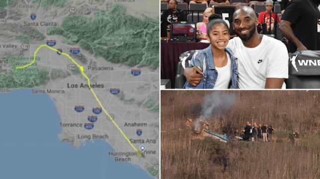 Bizarre flight path of Kobe Bryant's helicopter before it crashed into mountain
