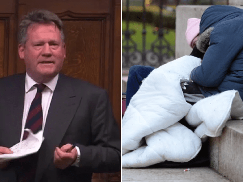 Tory MP says homeless people 'choose to be on the streets'