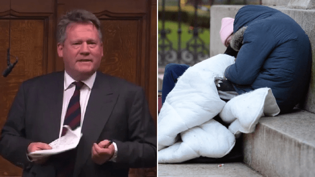 Tory MP Adam Holloway said people choose to sleep on the streets so they can fund drug and alcohol addiction
