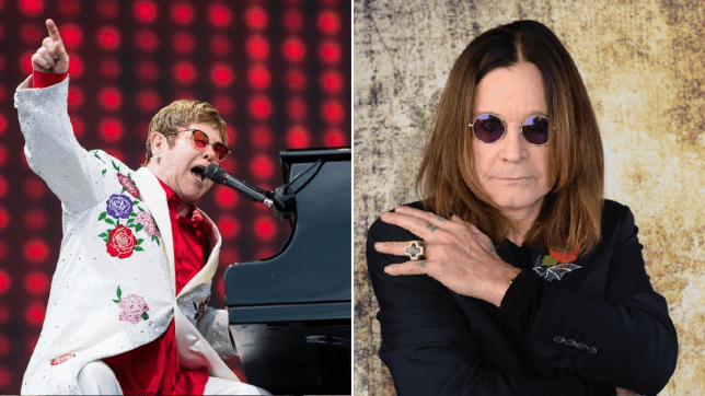 Ozzy Osbourne and Elton John
