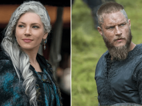 Katheryn Winnick comforts Vikings fans as Queen Lagertha is reunited with Travis Fimmel's Ragnar