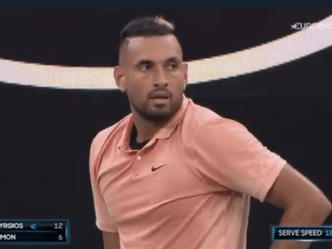 Nick Kyrgios mocks Rafael Nadal after receiving time violation warning