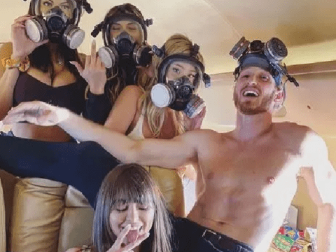 Logan Paul makes controversial joke about coronavirus as he poses with gas masks amid fears