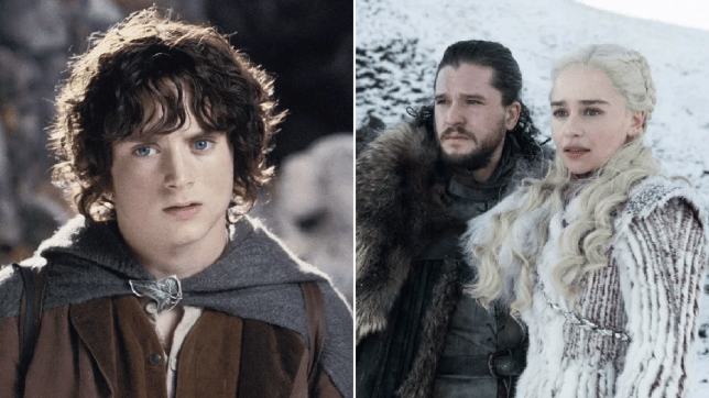 Lord Of The Rings' Frodo and Game Of Thrones' Jon Snow and Daenerys