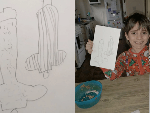 Mum in hysterics over five-year-old son's rude drawing of vegetables
