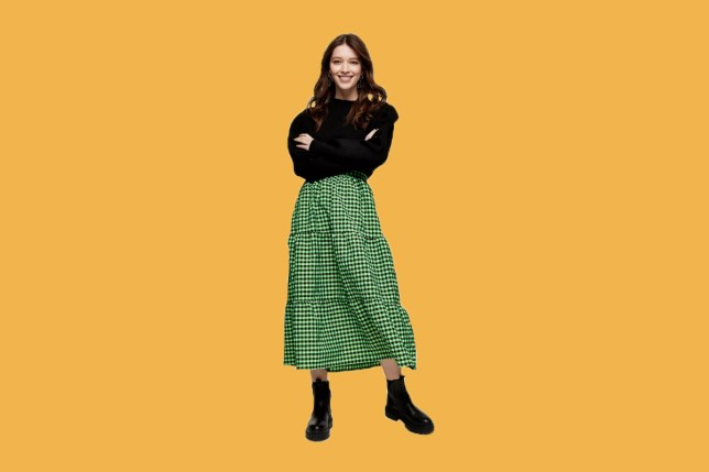 We're calling it now: Topshop's green gingham tiered skirt is going to be the next fashion it piece