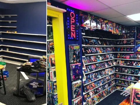 Nostalgic man turns his entire basement into a Blockbuster full of VHS tapes