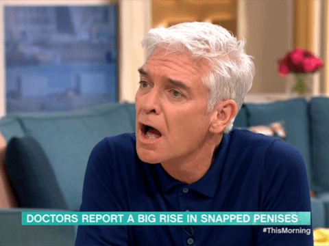 Phillip Schofield left squirming in horror over jaw-dropping snapped penis injury revelations