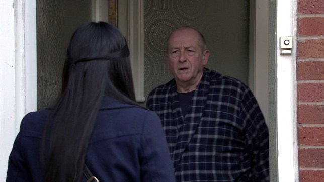 Geoff and Alya in Coronation Street