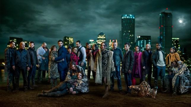 EastEnders 35th anniversary group shot