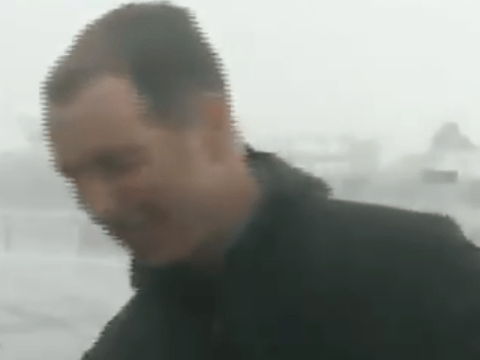 BBC News reporter coughs on seawater as he's brutally soaked by wave during live report