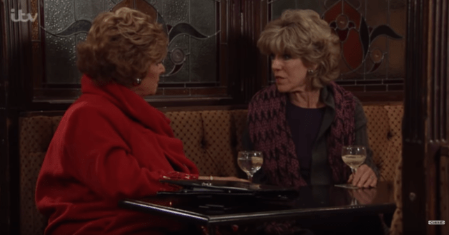 Audrey and Rita in Coronation Street.