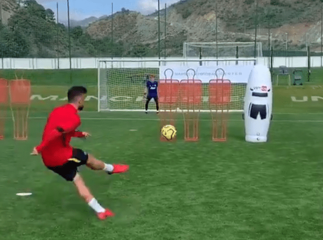 Bruno Fernandes scored a stunning free-kick during Man Utd's training camp in Marbella earlier this week