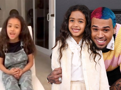 Chris Brown's daughter Royalty shows off her impressive singing voice in sweet video