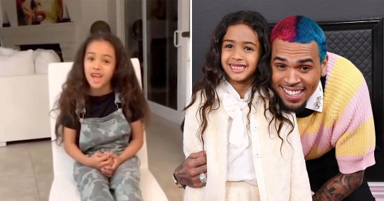 Chris Brown's daughter Royalty shows off her singing voice ...