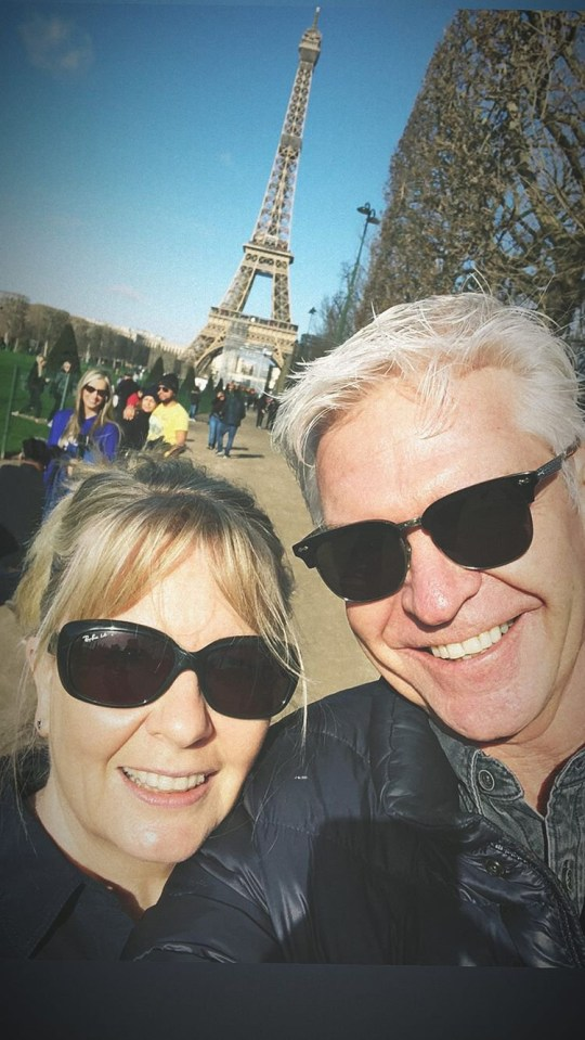 Picture: @schofe Phillip Schofield in Paris with his wife and daughters