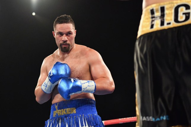 Joseph Parker squares up to his opponent during a heavyweight fight