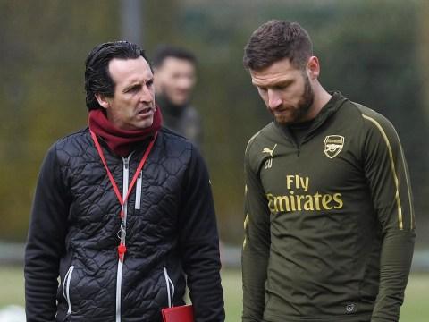 Shkodran Mustafi takes aim at former Arsenal manager Unai Emery