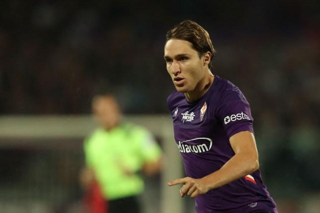 Fiorentina winger Federico Chiesa is on Manchester United's radar