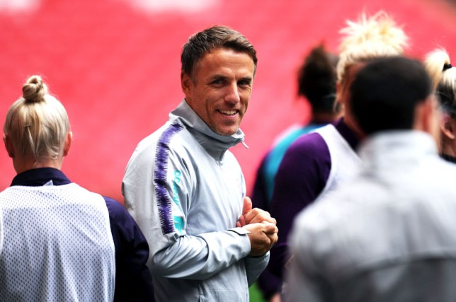 Phil Neville is preparing his England squad for the SheBelieves Cup